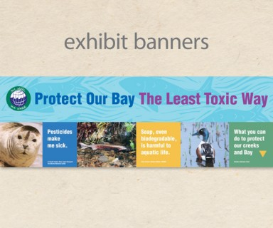 "MCSTOPPP - fair exhibit: banners, collateral and booth display for ""Our Water Our World"""
