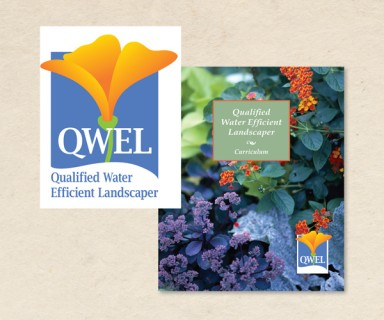 QWEL - brand identity: logo and collateral for water-wise landscaping