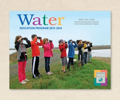 Sonoma County Water Agency - brochure design for educational program