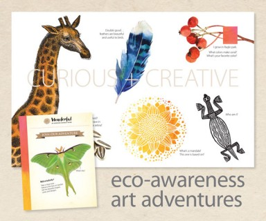 Wonderful Art Adventures Inspired by Nature – invitation design